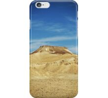 Table Top Mountain - Negev Desert - Israel iPhone Case/Skin