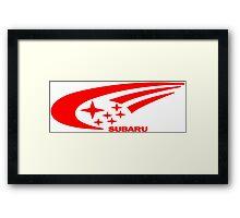 Subaru funny geek nerd Framed Print