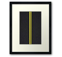 Asphalt road. Framed Print