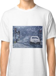 Cars In Snow Classic T-Shirt