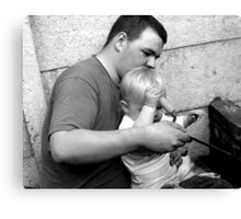 Let Daddy Show You Canvas Print