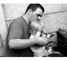 Let Daddy Show You Photographic Print