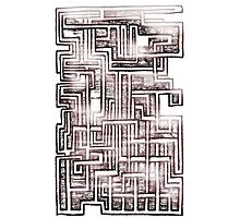 A Mazed Photographic Print