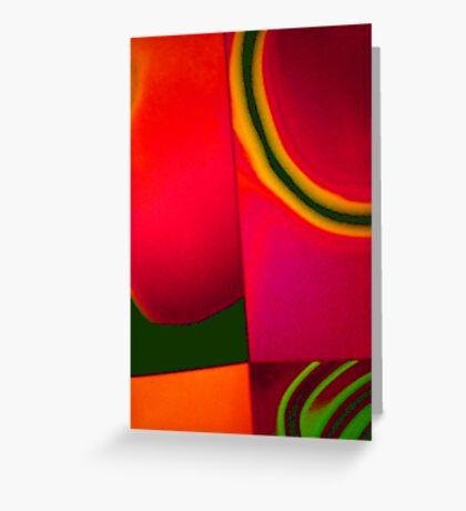 coloured quarter Greeting Card