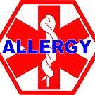 ALLERGY MEDICAL ALERT ID TAG by SofiaYoushi