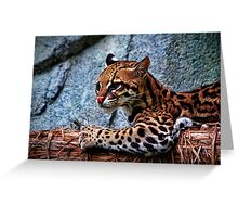 Ocelot Painted Greeting Card