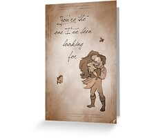 The Little Mermaid inspired valentine. Greeting Card
