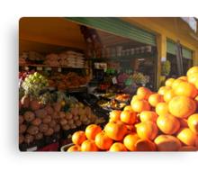 fruits and vegetables - frutas y verduras Metal Print