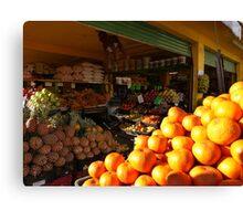 fruits and vegetables - frutas y verduras Canvas Print