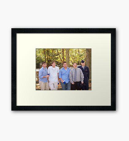 The boys Framed Print