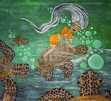 Anita Turtle Rider by Surrealfantasy