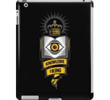 """KNOWLEDGE IS KING"" iPad Case/Skin"