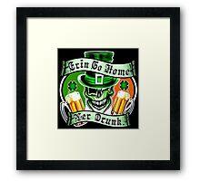 Leprechaun Skull 2: Erin Go Home Yer Drunk Framed Print