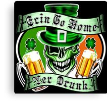 Leprechaun Skull 2: Erin Go Home Yer Drunk Canvas Print