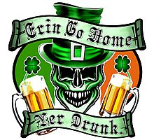 Leprechaun Skull 1: Erin Go Home Yer Drunk Photographic Print