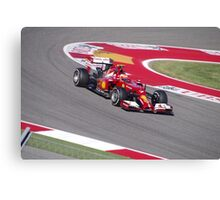 Ferrari F1 at Austin Canvas Print