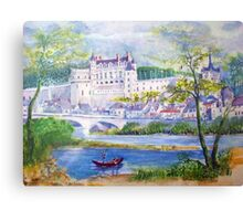 Chateau Amboise watercolor painting  Canvas Print