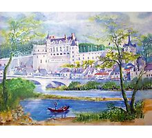 Chateau Amboise watercolor painting  Photographic Print