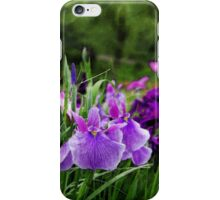 japanese iris iPhone Case/Skin
