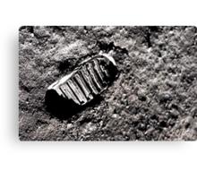 First moon footprint. Canvas Print