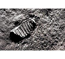First moon footprint. Photographic Print