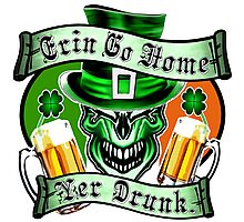 Leprechaun Skull 3: Erin Go Home Yer Drunk Photographic Print
