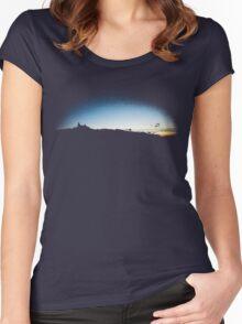 Trosky at dusk, Czech Republic (T-Shirt) Women's Fitted Scoop T-Shirt