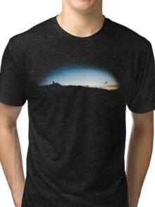 Trosky at dusk, Czech Republic (T-Shirt) Tri-blend T-Shirt