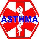 ASTHMA MEDICAL ALERT ID TAG by SofiaYoushi