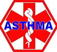 ASTHMA MEDICAL ALERT ID TAG by SofiaYoushi