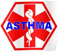ASTHMA MEDICAL ALERT ID TAG Poster