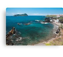 Small bay and islet Canvas Print