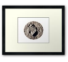 Most famous footprint ever. Astronaut moon mission. Framed Print