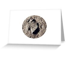 Most famous footprint ever. Astronaut moon mission. Greeting Card