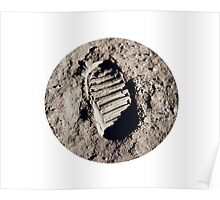 Most famous footprint ever. Astronaut moon mission. Poster