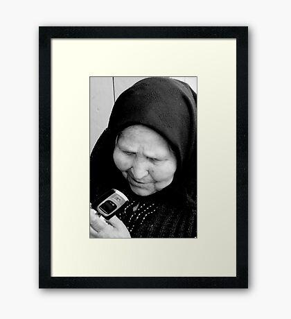 NEW vs OLD Framed Print