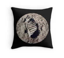 Most famous footprint ever. Astronaut moon mission. Throw Pillow