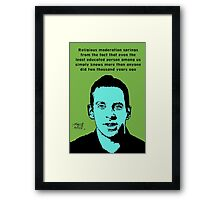 Sam Harris athiest quote Framed Print