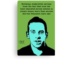 Sam Harris athiest quote Canvas Print