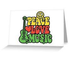 Reggae Peace Love Music Greeting Card