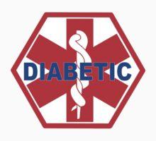 DIABETES  - DIABETIC MEDICAL ALERT ID TAG One Piece - Short Sleeve