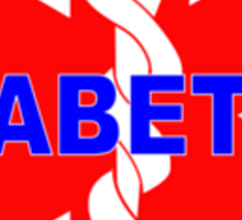DIABETES  - DIABETIC MEDICAL ALERT ID TAG Sticker