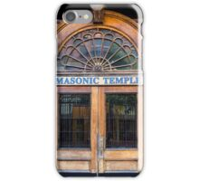 Door to Masonic Temple iPhone Case/Skin
