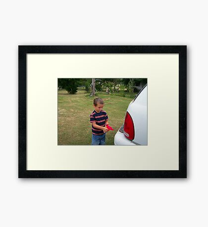 hillbilly carwash Framed Print