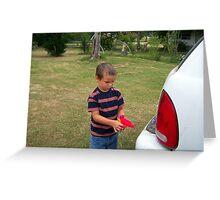 hillbilly carwash Greeting Card