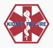 KIDNEY FAILURE MEDICAL ALERT IDENTIFICATION ID TAG  One Piece - Short Sleeve