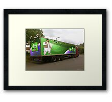 Pakistan's 60TH Anniversary) Sony Ericsson W910i Mobile Phone as seen on a Lorry. Framed Print