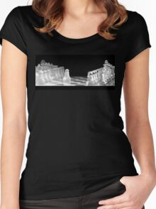 Chess 9: First move (T-Shirt & iPhone case) Women's Fitted Scoop T-Shirt