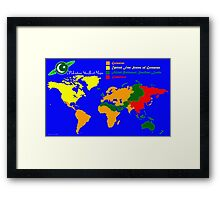 28TH Century World Map Framed Print