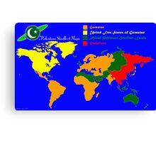 28TH Century World Map Canvas Print
